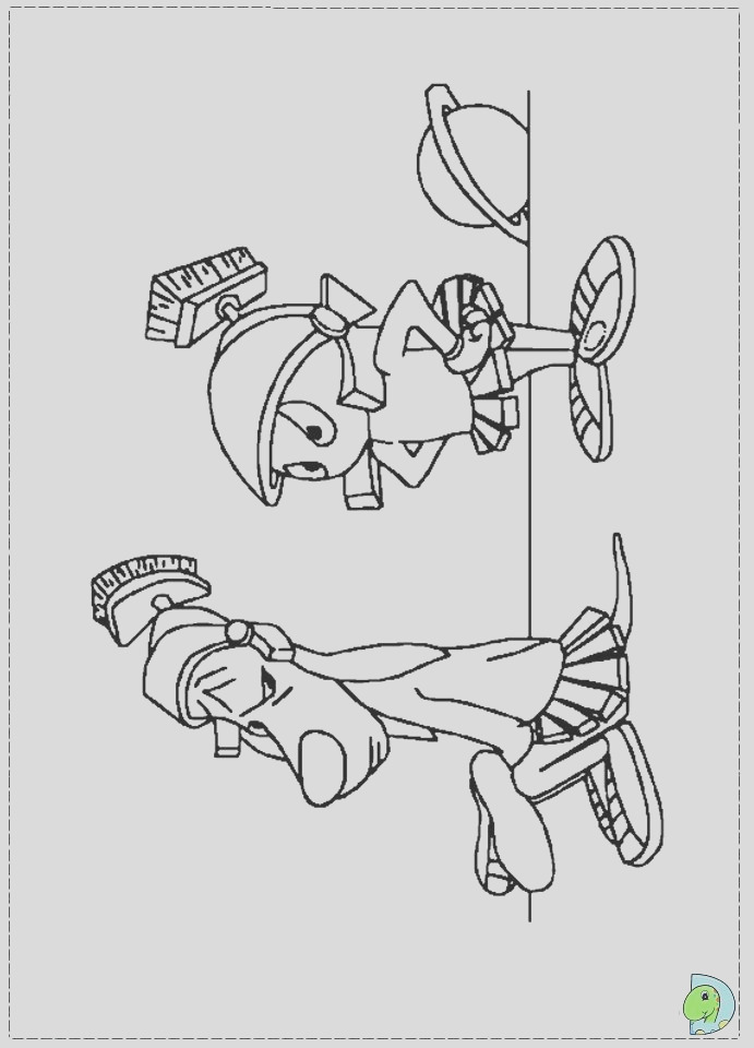 marvin the martian coloring page