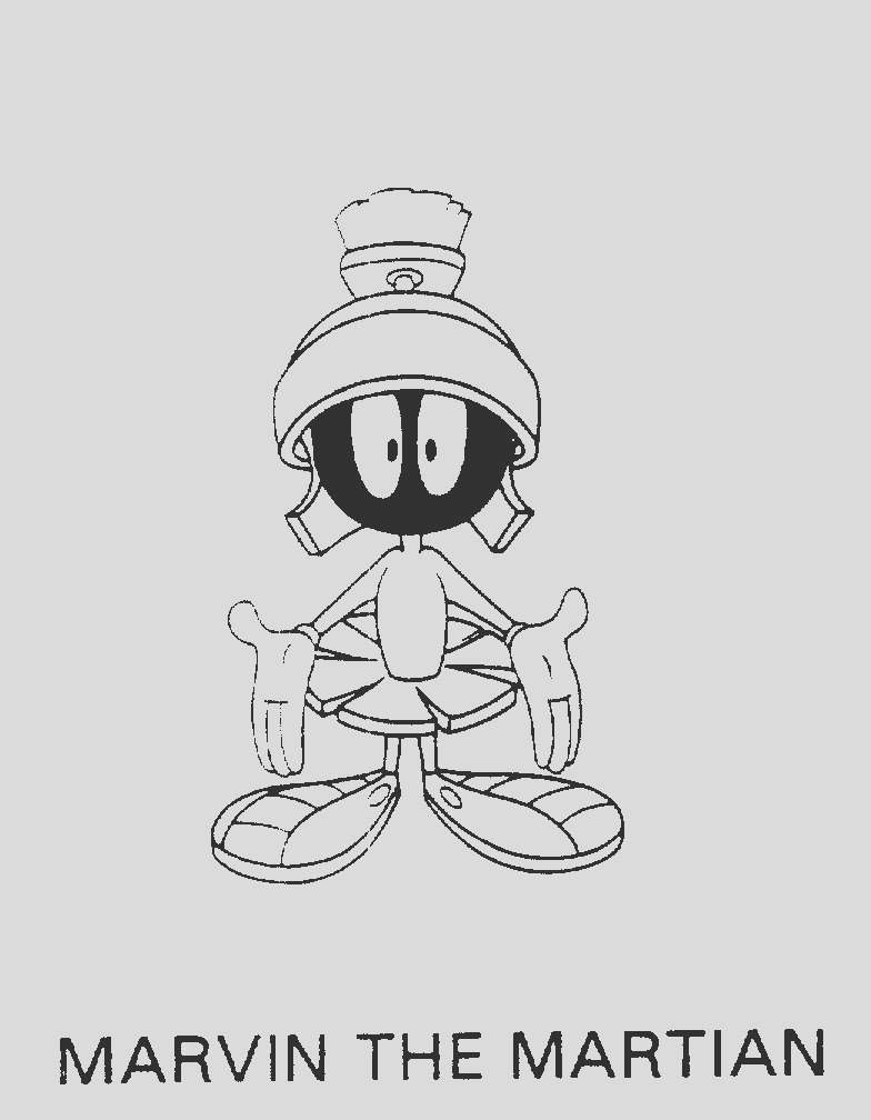 marvin the martian coloring pages