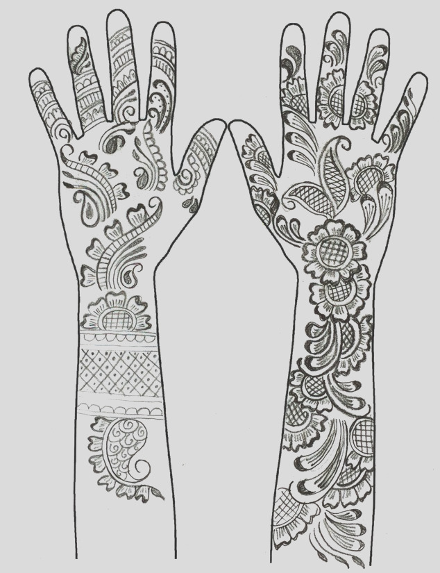 mehndi coloring pages