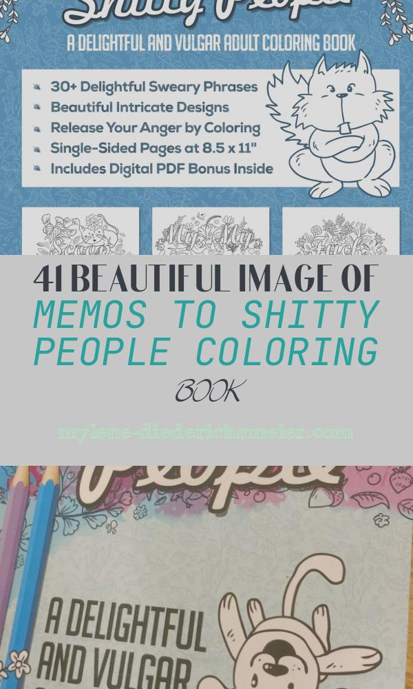 Memos to Shitty People Coloring Book Awesome Memos to Shitty People A Delightful & Vulgar Adult