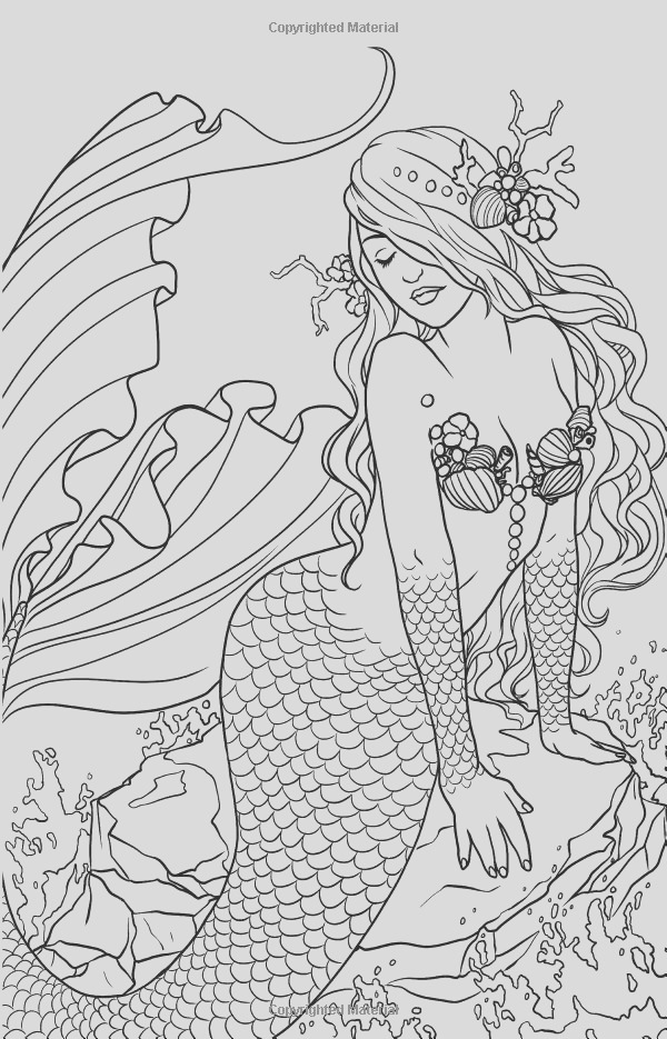 mermaid adult coloring pages for adults