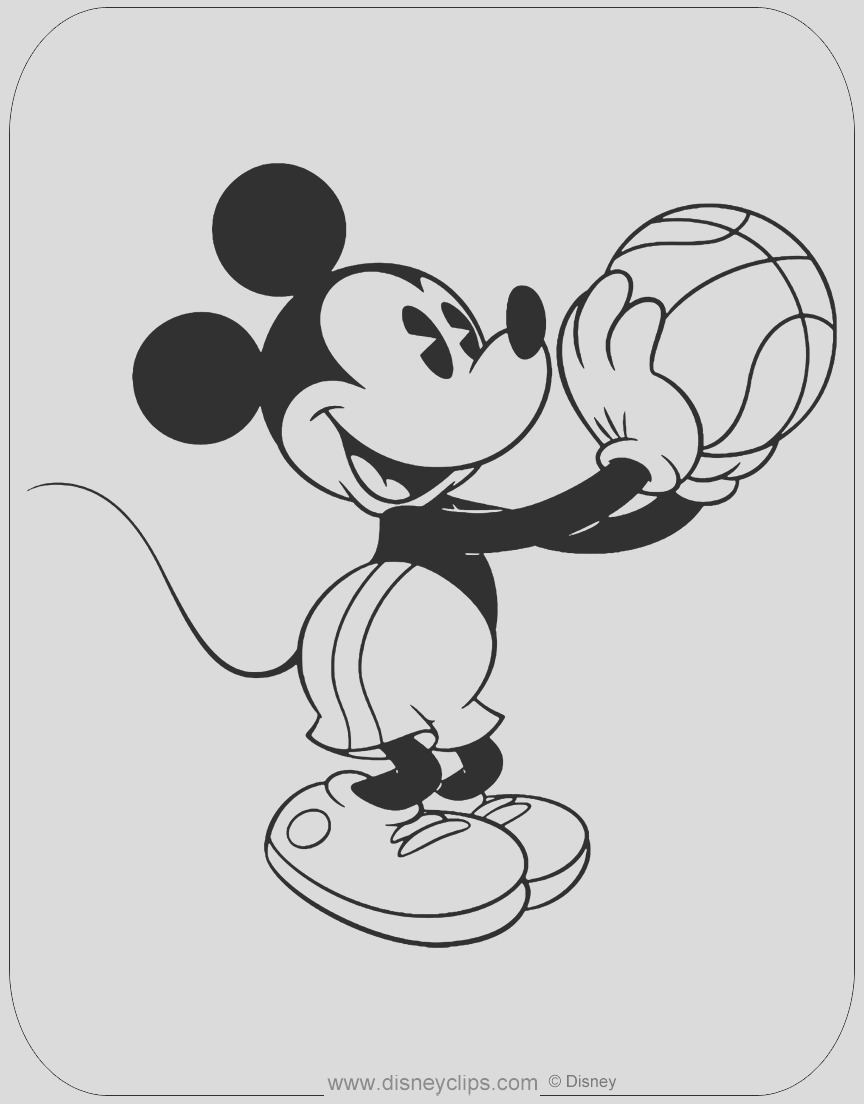 classic mickey coloring