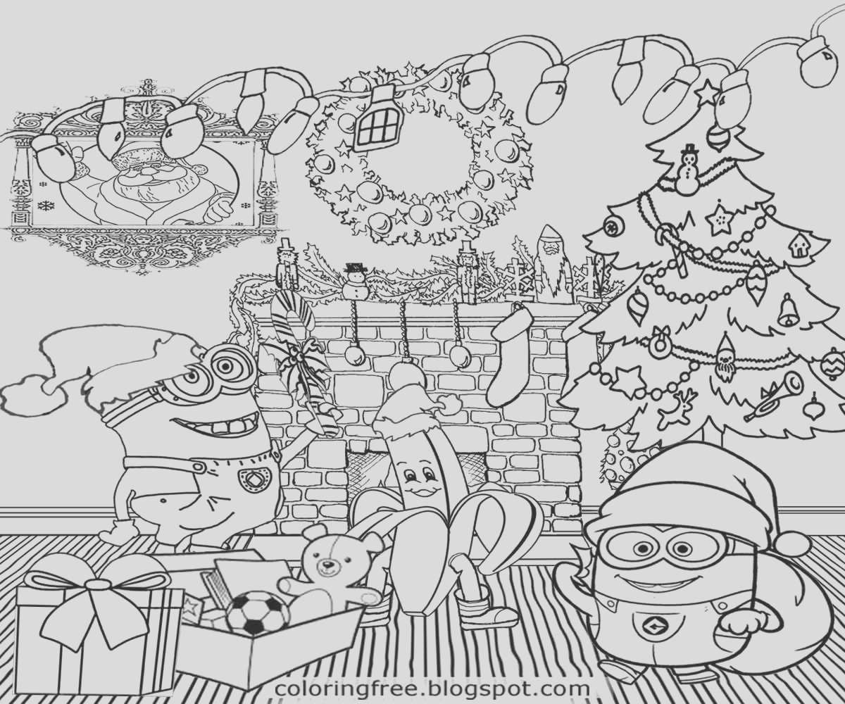 free fun christmas coloring pages for