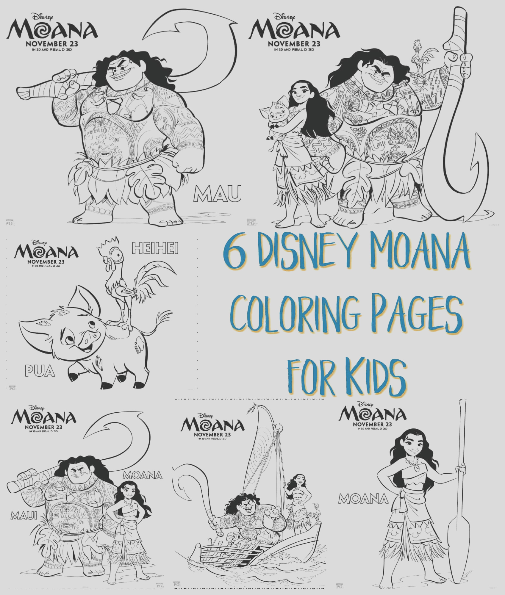 disney moana coloring pages kids
