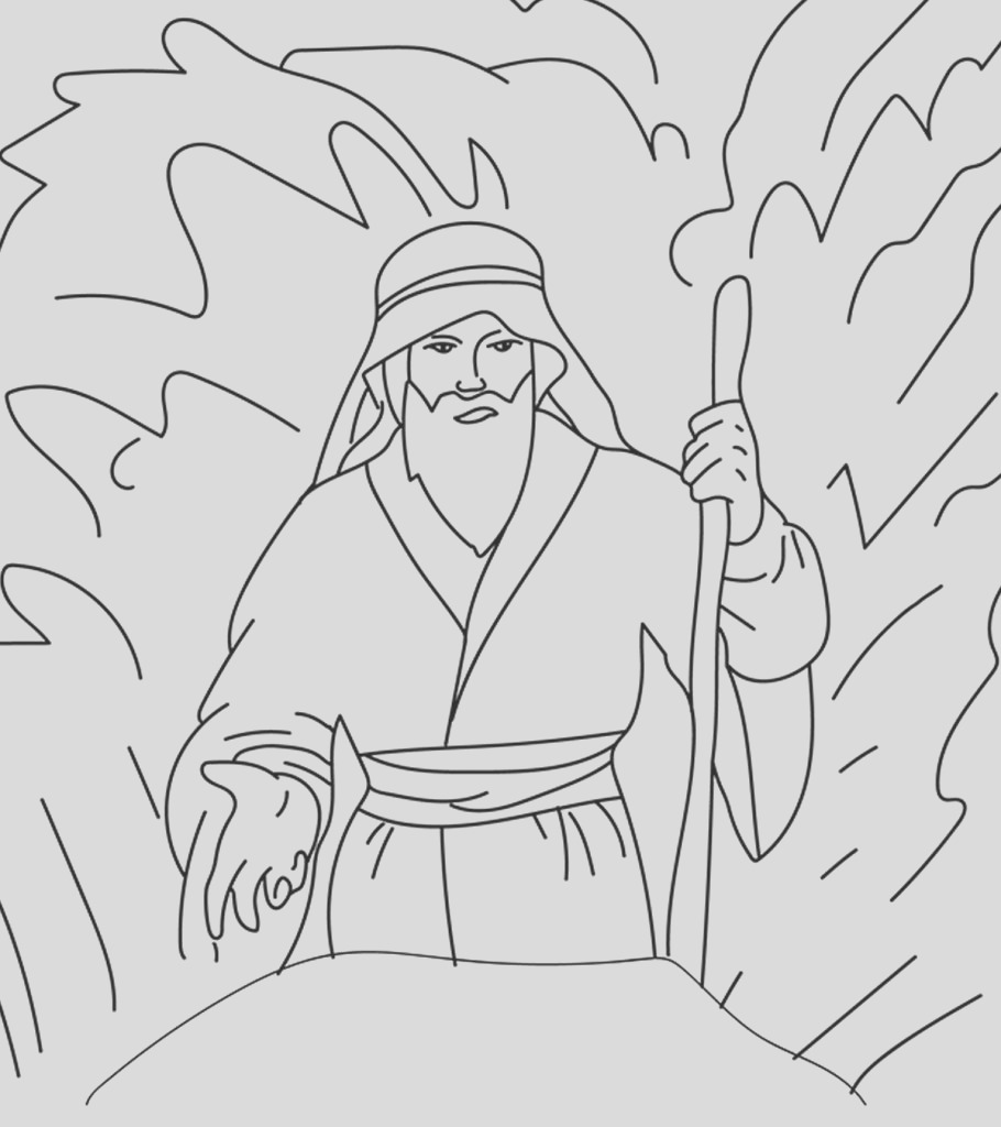 moses coloring pages for your little ones