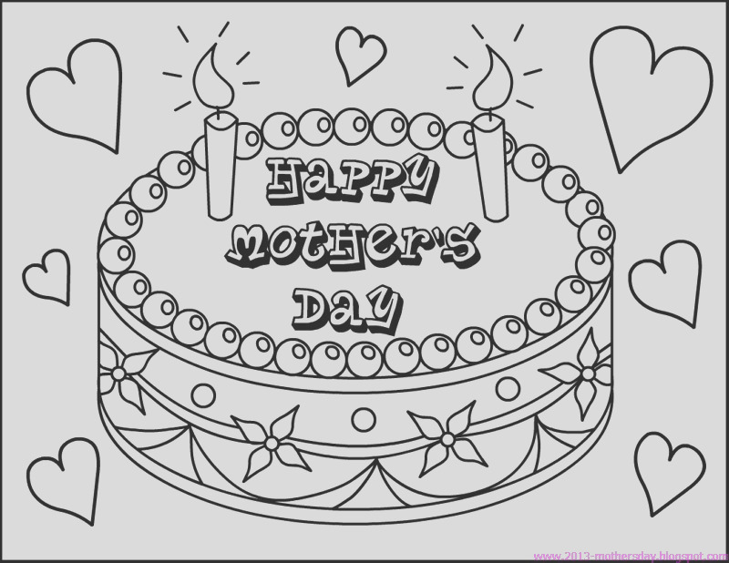 happy mothers day coloring pages for
