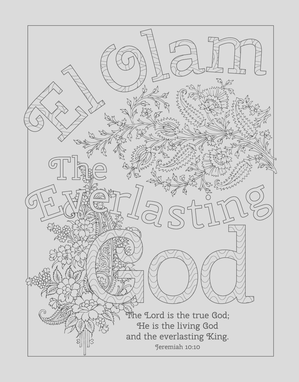 attributes of god page sketch templates