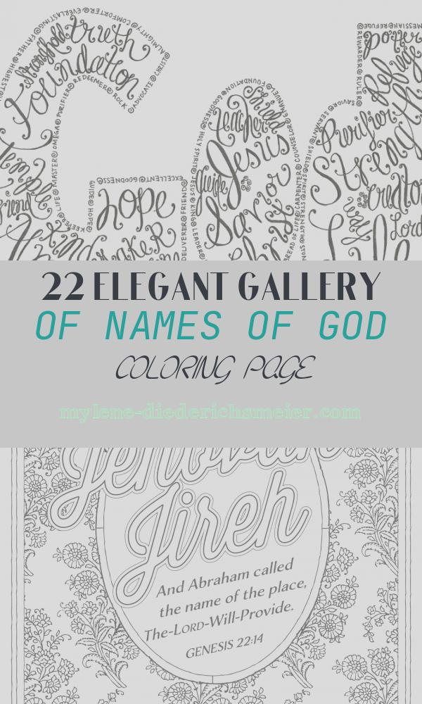 Names Of God Coloring Page Luxury the Many Names Of God Slightly Amusing Pinterest