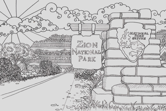 help create national parks coloring book