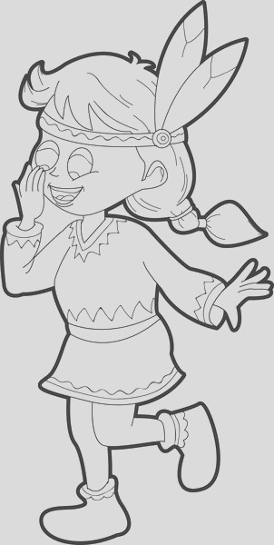 little pilgrim girl cartoon thanksgiving coloring page a4342
