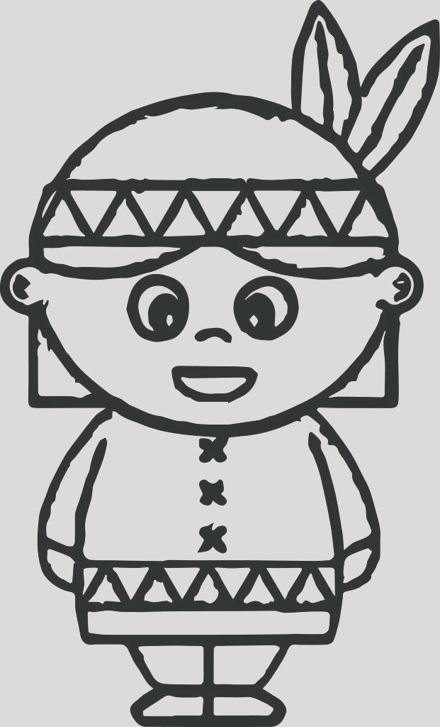 free printable native american coloring pages