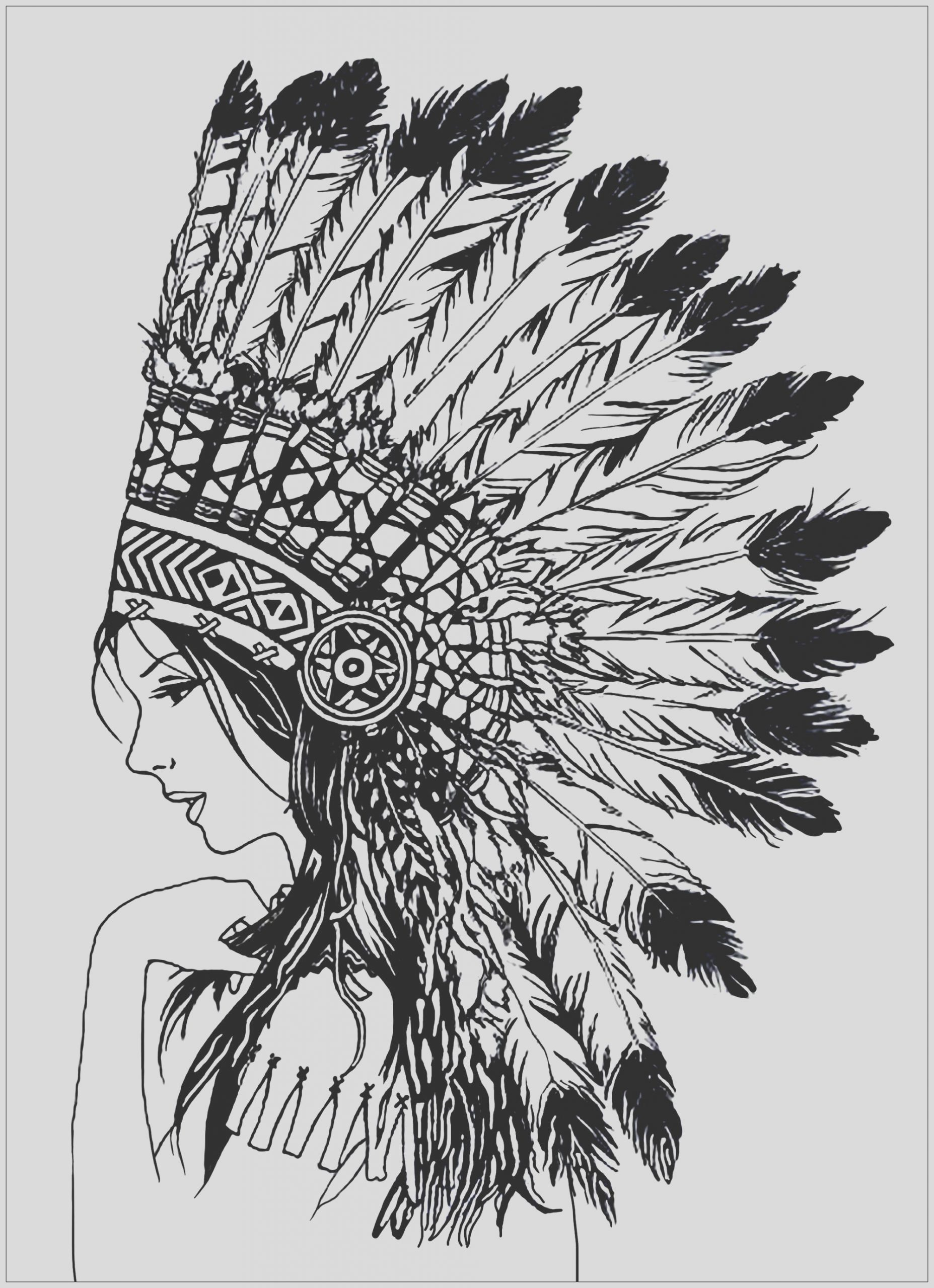 image=native americans coloring beautiful indian woman 1