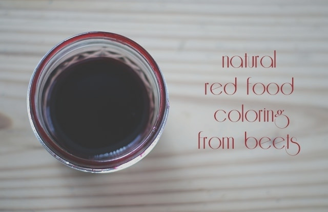 natural red food coloring from beets 101 days of christmas