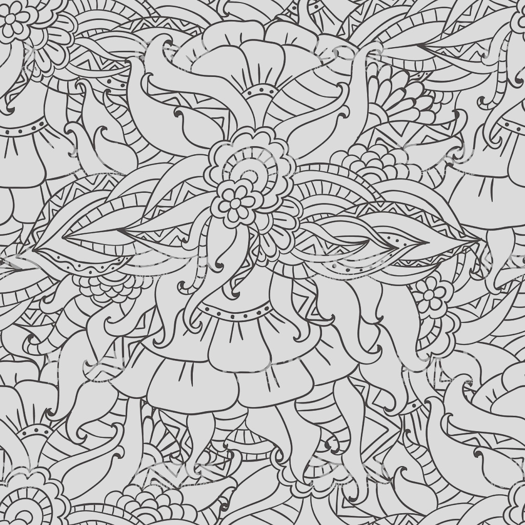 coloring pages for adults decorative hand drawn doodle nature ornamental gm