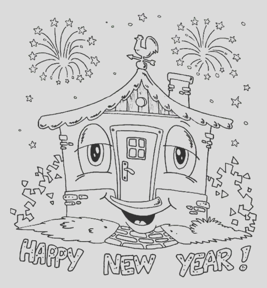 free printable new years coloring pages online