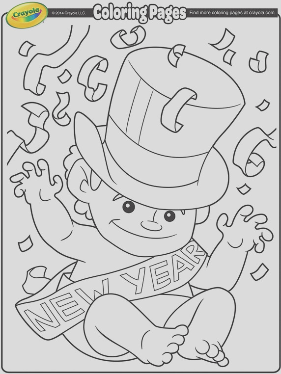 baby new year coloring page