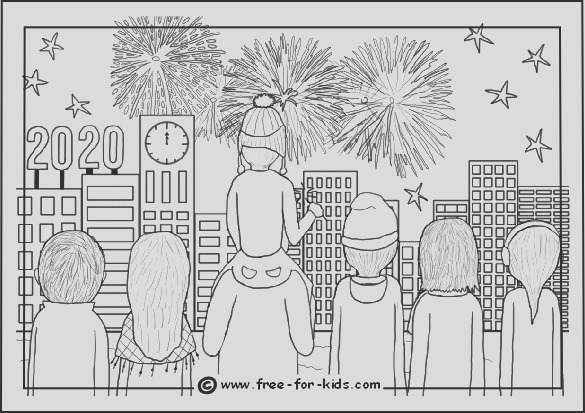 new year colouring pagestml