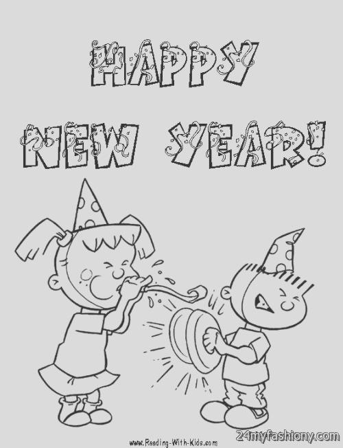 new years day coloring page pictures 2016