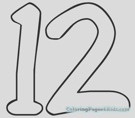 number 12 coloring page 106