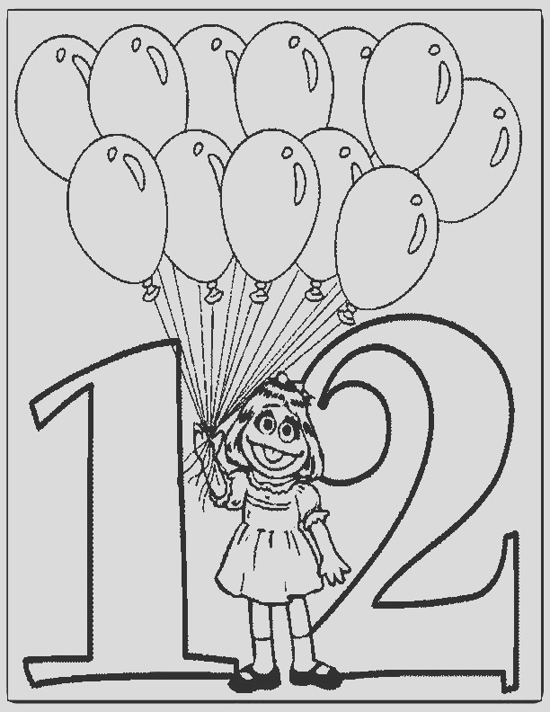 number 12 page sketch templates