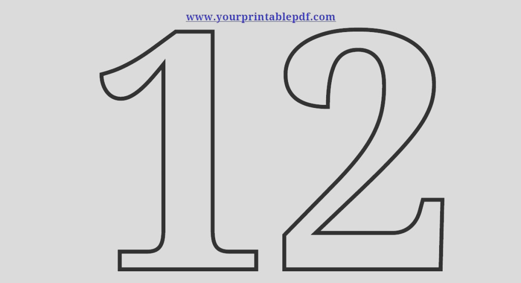 printable number 12 coloring page