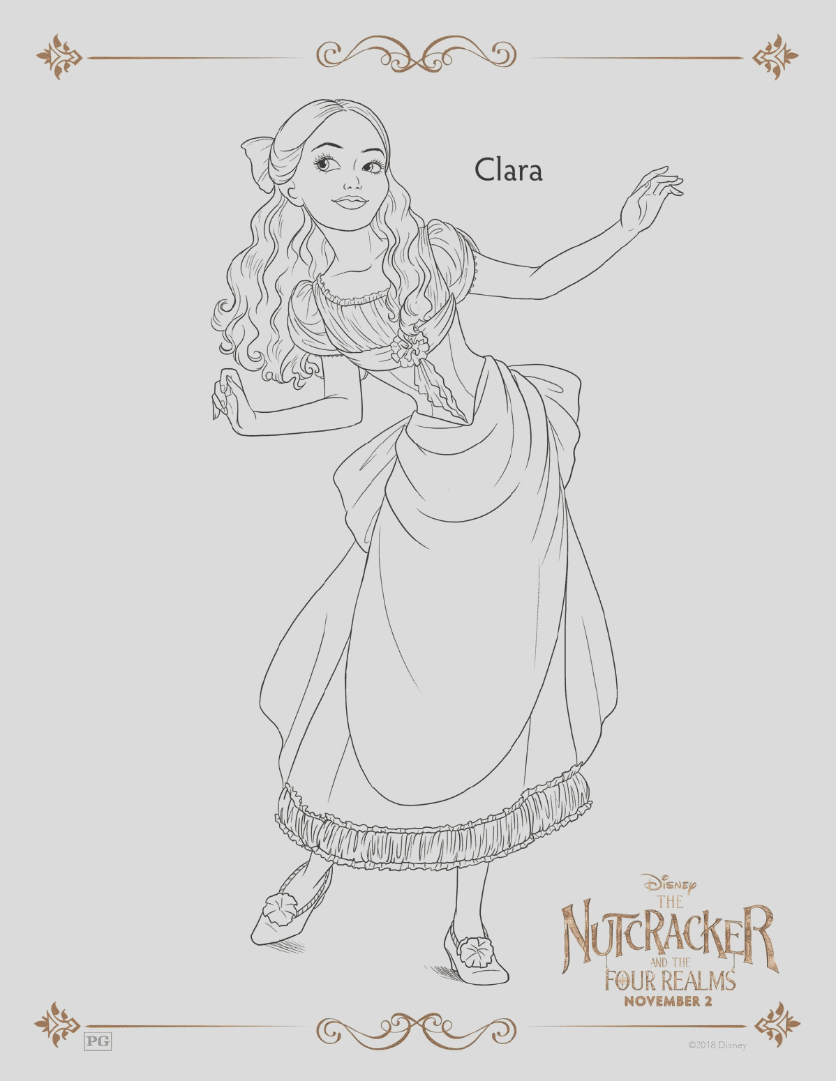 the nutcracker and the four realms free coloring pages 30 printables to