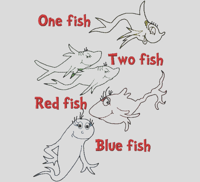 simple and funny one fish two fish coloring pages for toddlers