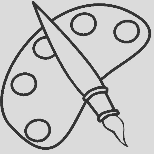 a paint brush coloring page