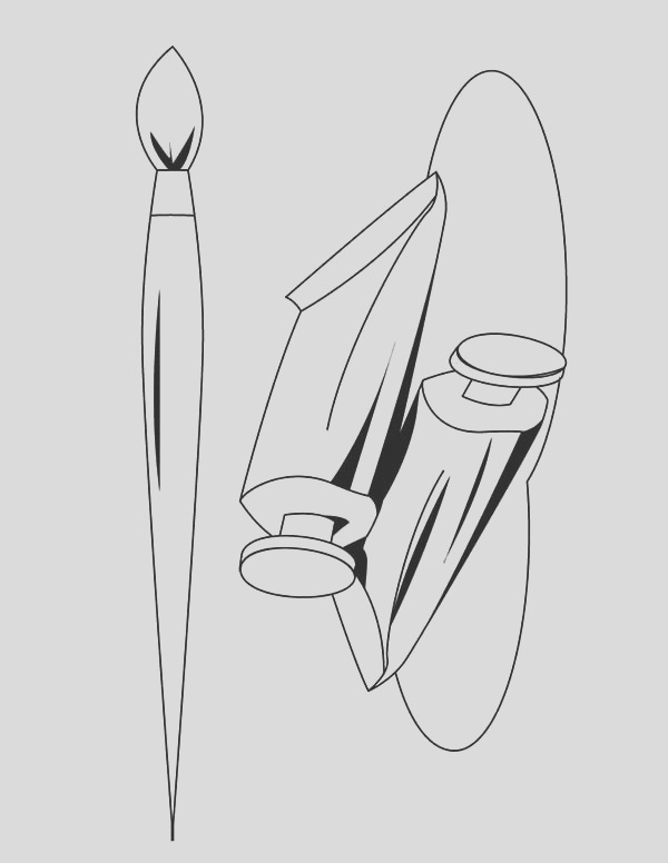 paint brush picture coloring page