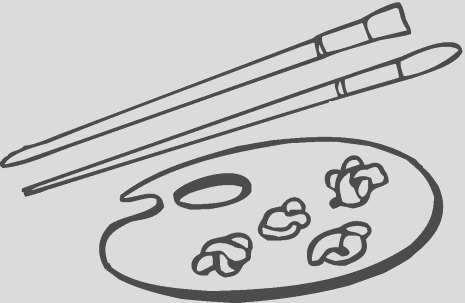 paint brush coloring page