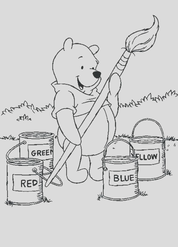 paint brushes coloring pages