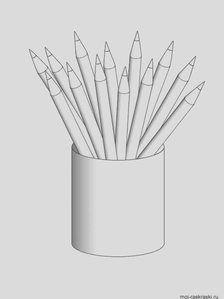pencil coloring pages
