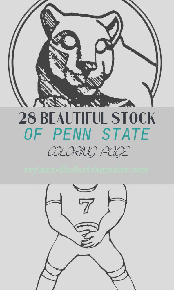 Penn State Coloring Page Beautiful Nittany Lion Penn State Coloring Page Coloring Pages