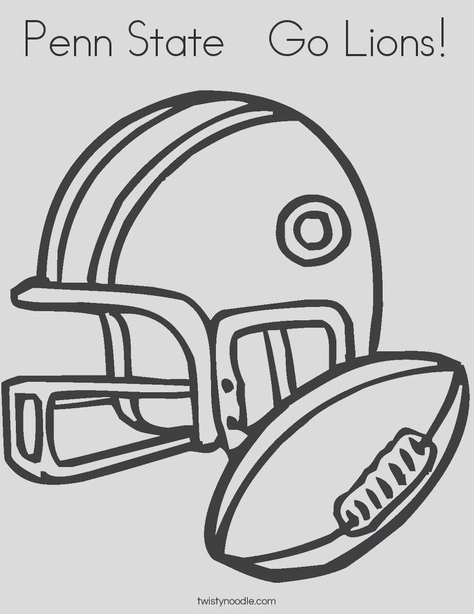penn state go lions coloring page