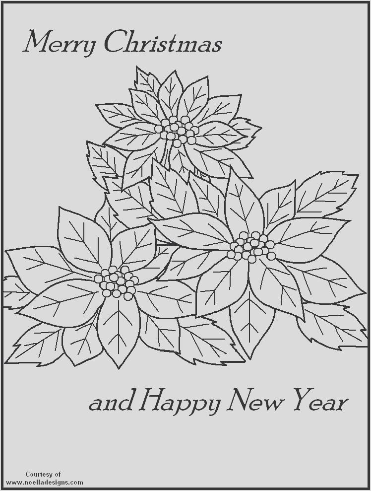 coloring pages poinsettia flower