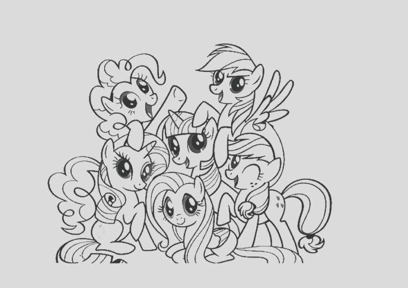 my little pony coloring pages with all ponies