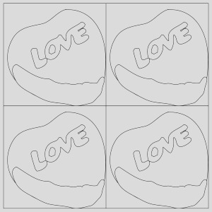 pop art candy heart coloring page