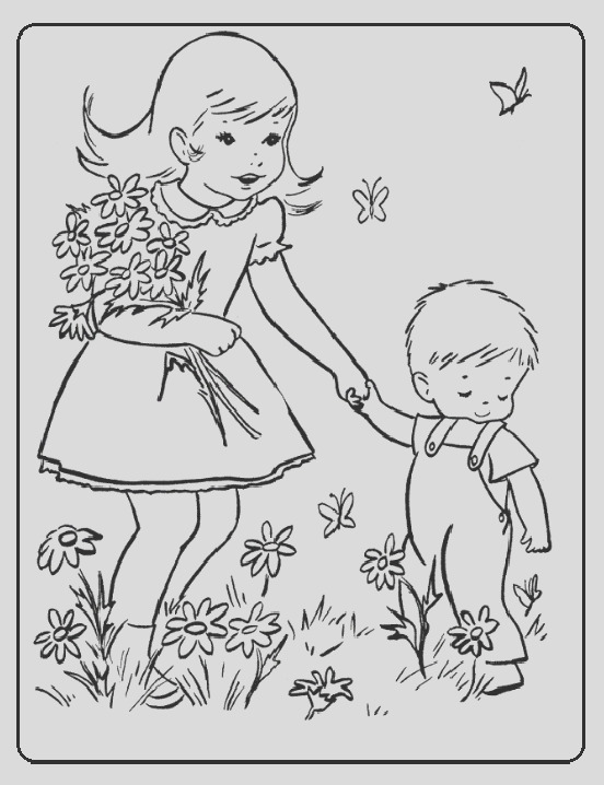 spring theme coloring pages kids