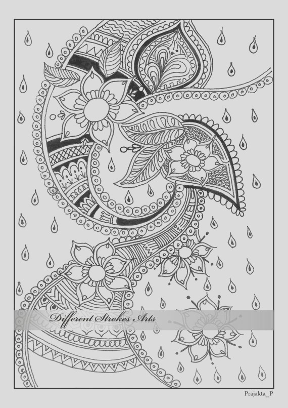 adult coloring pages henna art printable