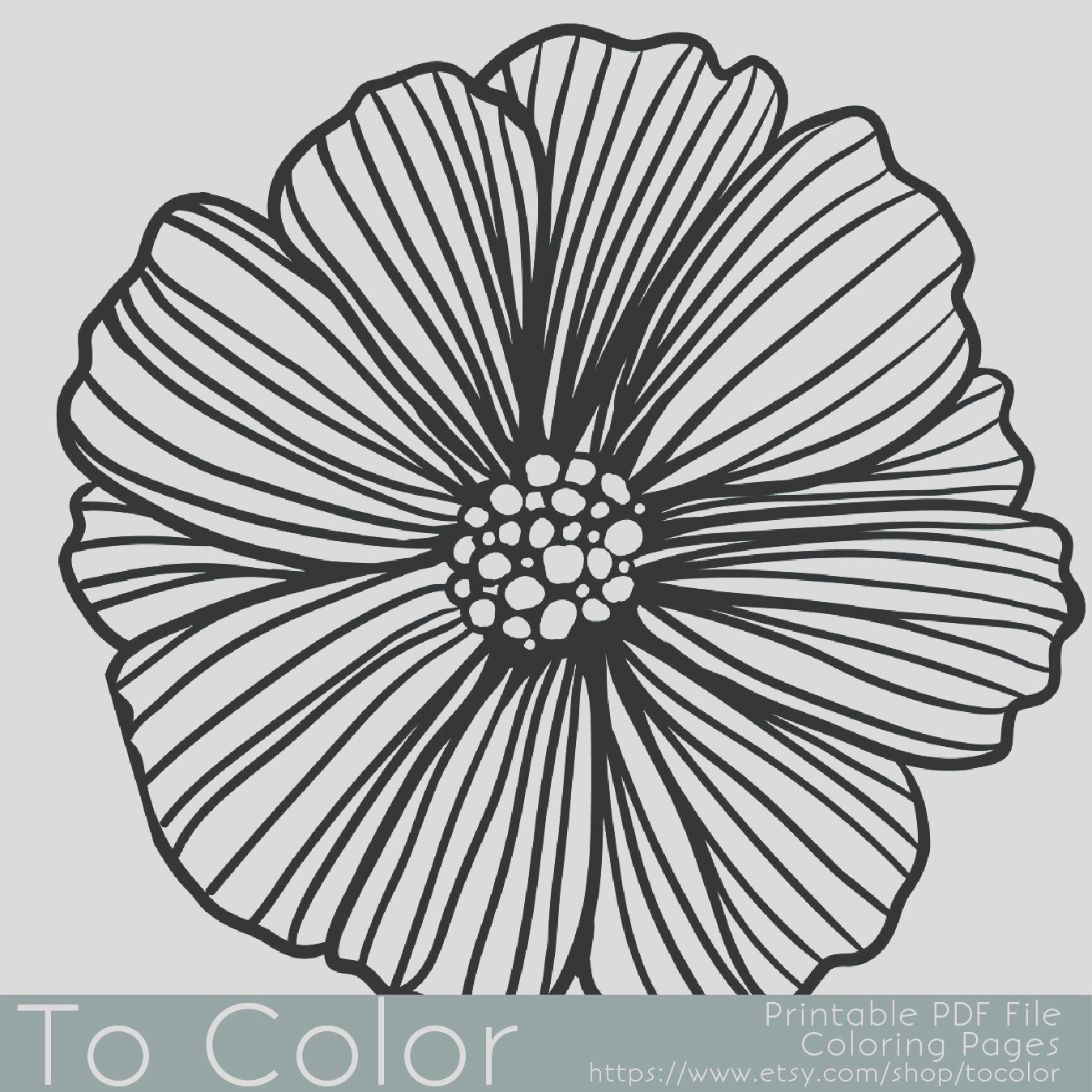 printable flower coloring page for