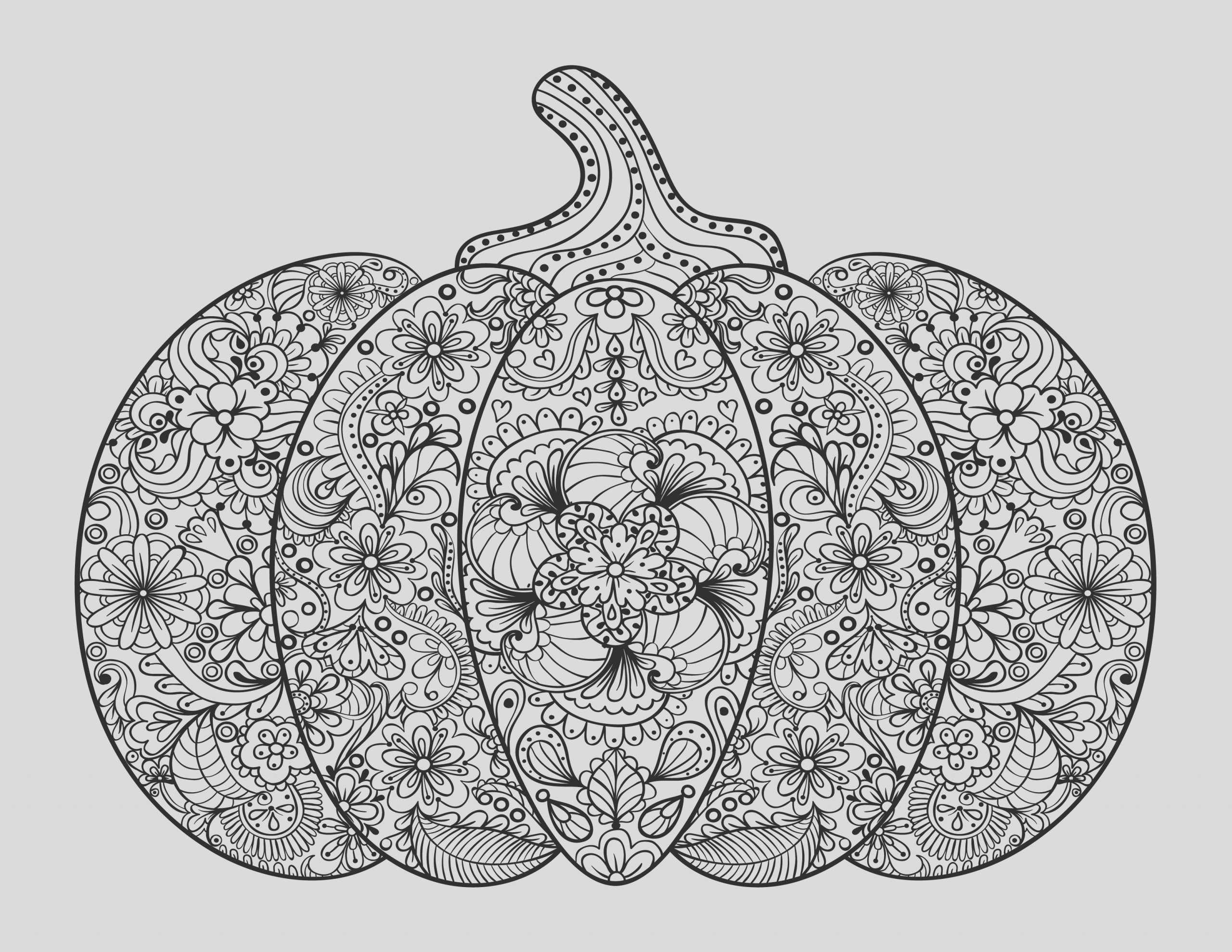 free adult coloring pages pumpkin delight