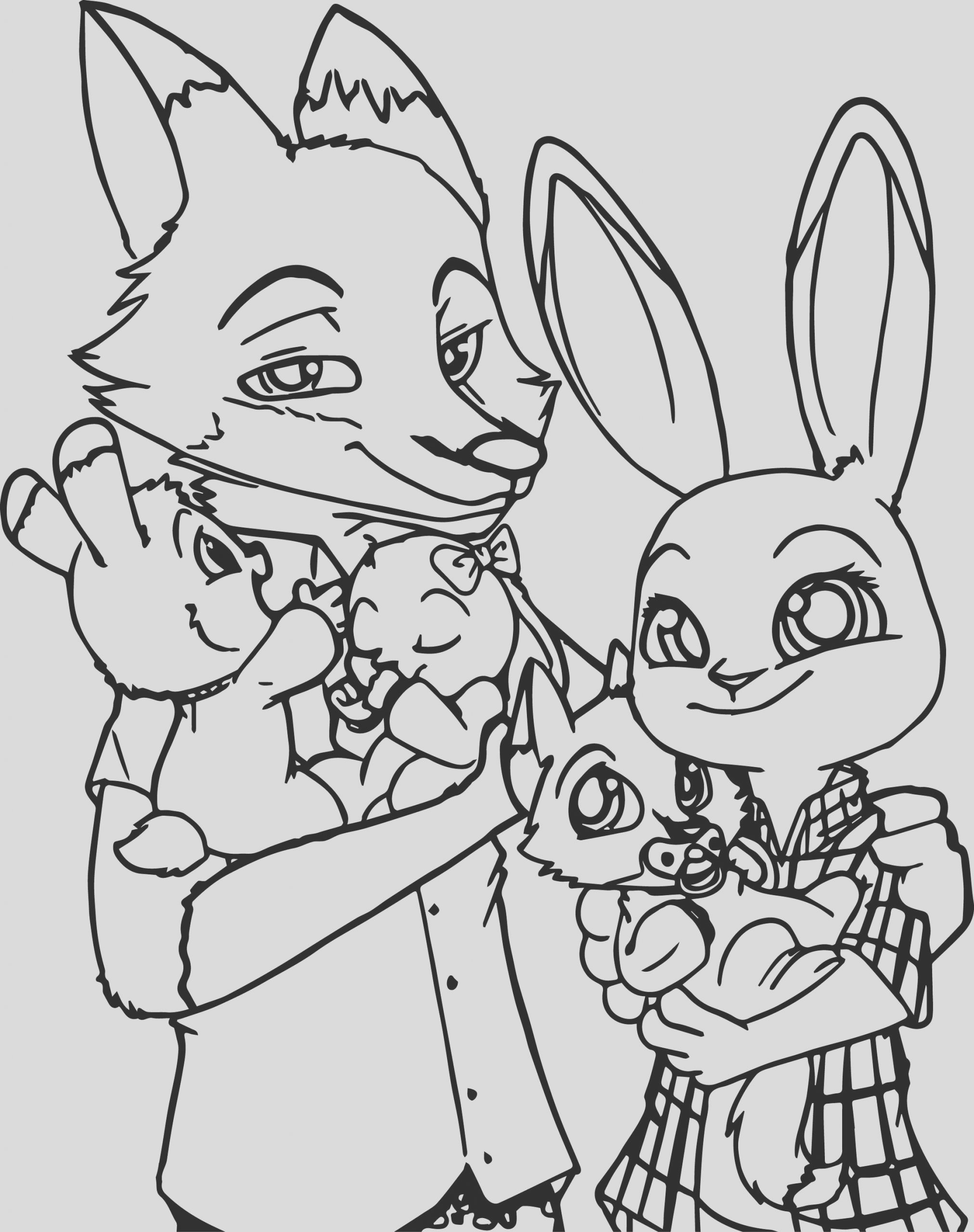 coloring pages zootopia