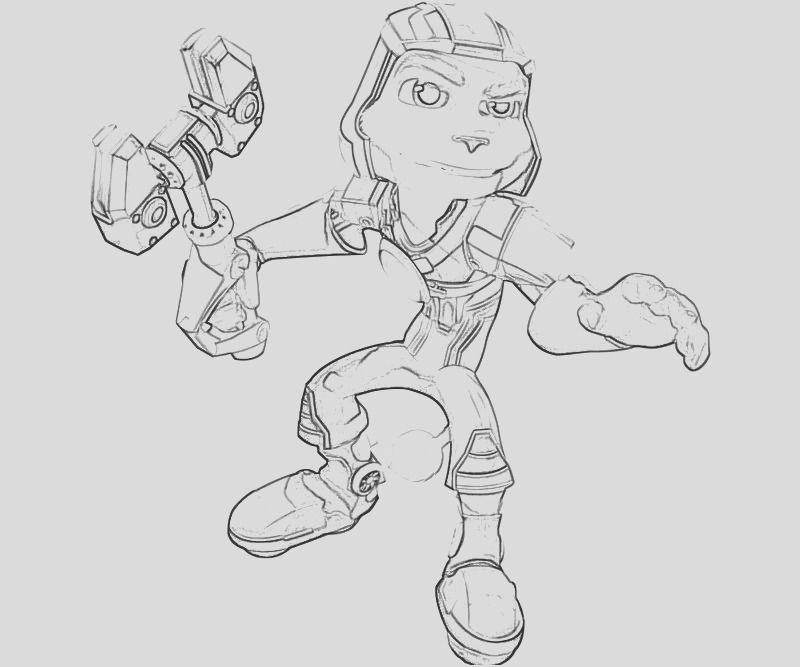 ratchet and clank coloring pages sketch templates