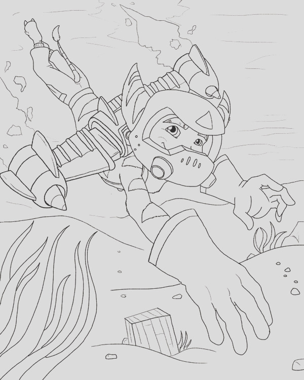 free ratchet and clank lineart