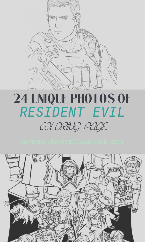 Resident Evil Coloring Page Beautiful Resident Evil Chris Redfield Coloring