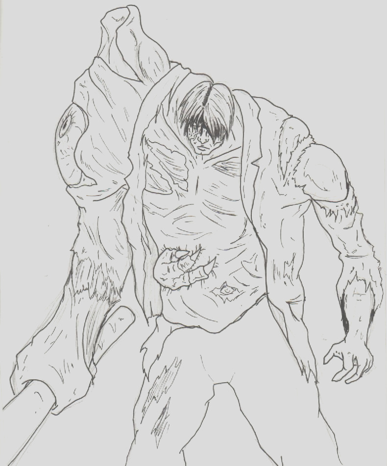resident evil zombies pages sketch templates