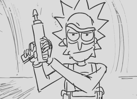 rick morty coloring pages