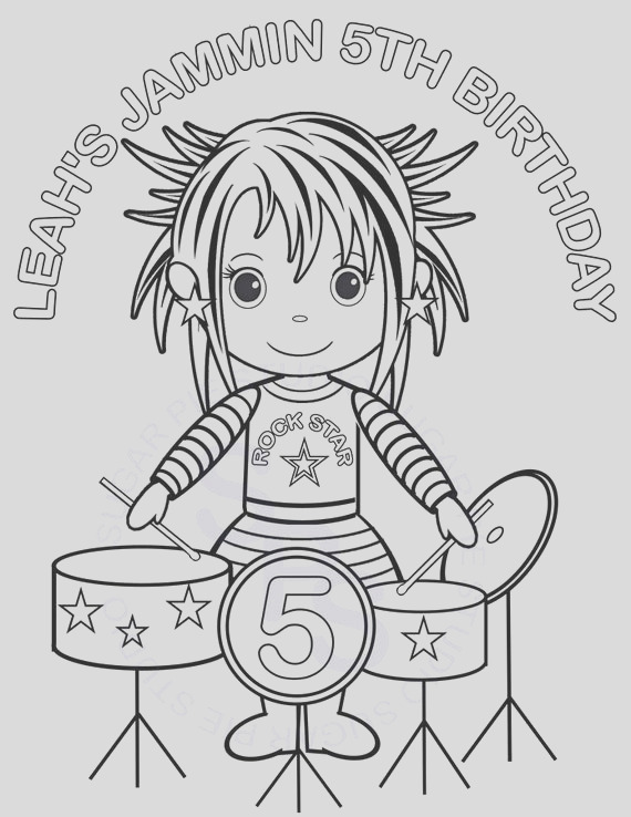 personalized printable rockstar birthday