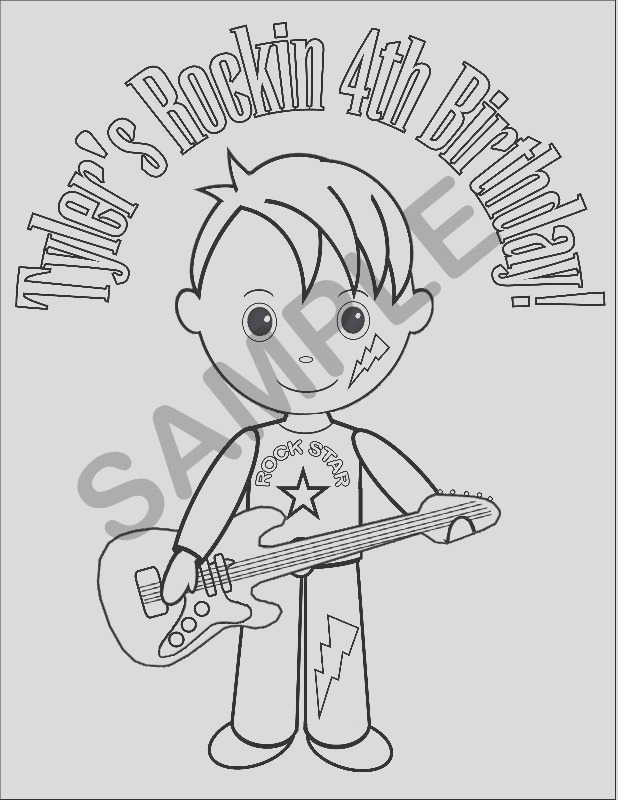 personalized printable boy rockstar