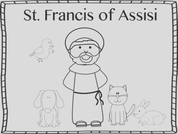 St Francis of Assisi Mini Book and Coloring Page